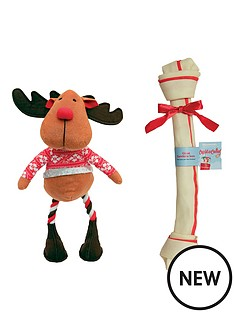 cupid-comet-russell-reindeer-amp-giant-rawhide-bone