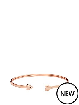 fossil-rose-gold-plate-arrow-cuff