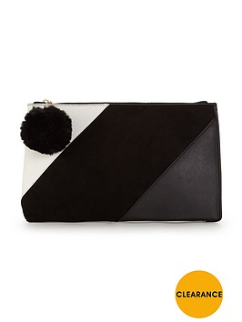 v-by-very-patchwork-pom-pom-clutch