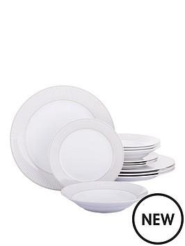 grey-pinstripe-12-piece-dinner-set