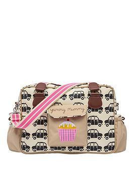 Pink Lining Yummy Mummy Black Cabs Changing Bag