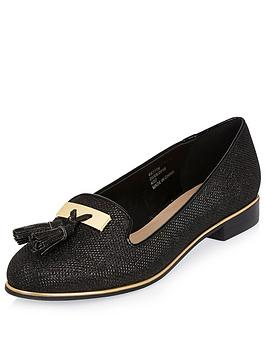 river-island-black-glitter-tassle-loafer