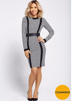 myleene-klass-eyelet-waistband-dress-monochrome