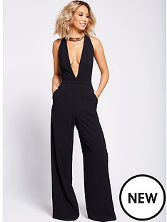 myleene-klass-gold-trim-jumpsuit-black