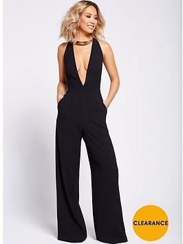 myleene-klass-gold-trim-jumpsuit-black