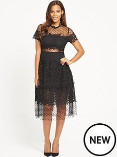 rochelle-humes-spot-mesh-midi-dress-black