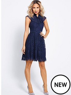 myleene-klass-bib-detail-lace-skater-dress-midnight