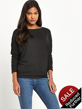 river-island-river-island-grey-batwing-lightweight-knit