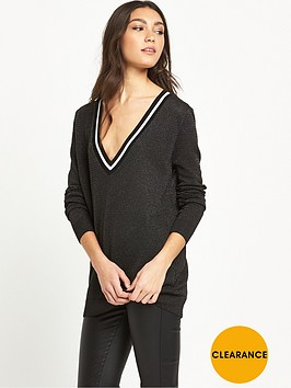 river-island-lurex-v-kneck-trim-jumper