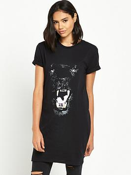 river-island-panthar-oversized-tee