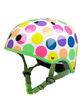 Micro Scooter Micro Safety Helmet Neon Dot Patterned Medium