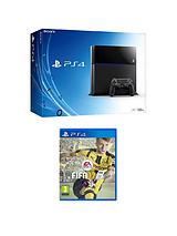 500Gb Black Console with FIFA 17 with Optional Extra DualShock Controller and 365 Day PSN Subscription