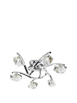 Very Verona 6 Light Flush Ceiling Fitting Picture