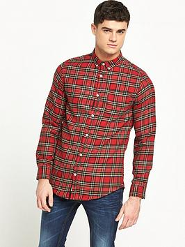 river-island-long-sleeve-tartan-longline-shirt