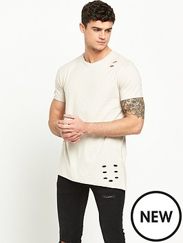 river-island-distressed-asymmetric-hem-short-sleeve-tshirt