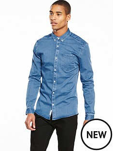 river-island-long-sleeve-muscle-fit-denim-shirt