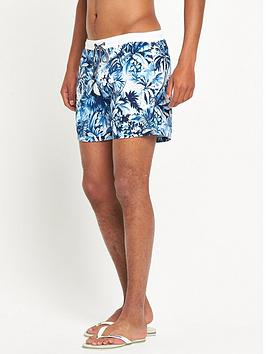 Hugo Boss Mandarinfish Print Swim Shorts