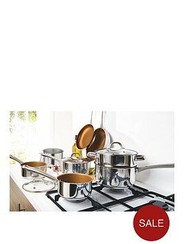 11-piece-copper-non-stick-stainless-steel-pan-set