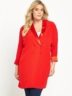 so-fabulous-satin-detail-longline-blazer