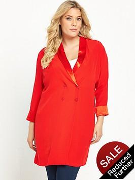 so-fabulous-satin-detail-longline-blazer