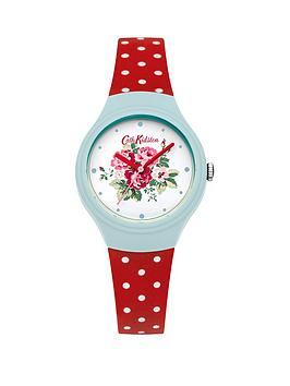 cath-kidston-cath-kidston-spray-flowers-white-floral-printed-dial-red-polka-dot-silicone-strap-ladies-watch