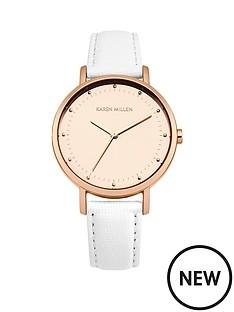 karen-millen-karen-millen-white-sunray-dial-white-leather-strap-ladies-watch