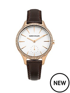 karen-millen-karen-millen-white-dial-dark-brown-leather-strap-ladies-watch