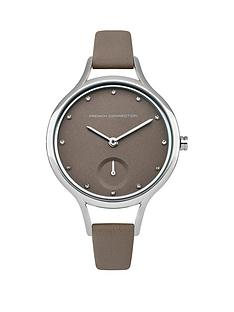 french-connection-french-connection-daisy-classic-grey-dial-grey-leather-strap-ladies-watch