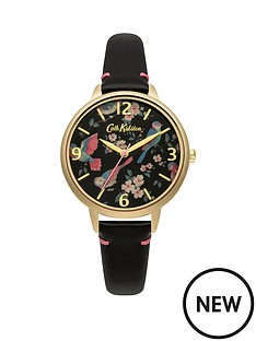 cath-kidston-cath-kidston-british-birds-black-photo-print-dial-black-leather-strap-ladies-watch