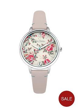 cath-kidston-cath-kidston-kingswood-rose-cream-photo-print-dial-pink-leather-strap-ladies-watch