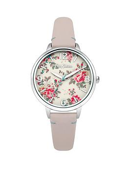 Cath Kidston Cath Kidston Kingswood Rose Cream Photo Print Dial Pink Leather Strap Ladies Watch