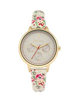 cath-kidston-cath-kidston-kingswood-rose-off-white-multi-dial-multi-colour-printed-pu-strap-ladies-watch