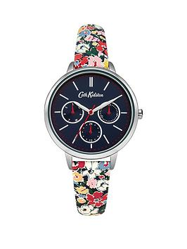 cath-kidston-cath-kidston-mews-ditsy-navy-multi-dial-multi-colour-printed-pu-strap-ladies-watch