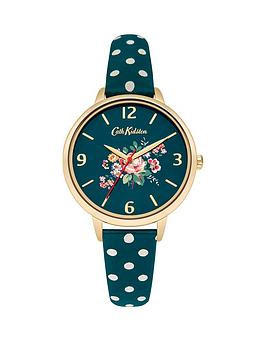 cath-kidston-cath-kidston-briar-rose-green-flowers-printed-dial-green-polka-dot-print-strap-ladies-watch