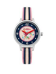 cath-kidston-cath-kidston-clifton-rose-navy-printed-dia-multi-colour-fabric-strap-ladies-watch
