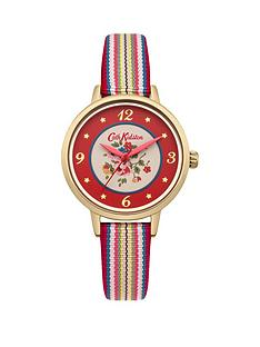 cath-kidston-cath-kidston-kew-sprig-red-floral-printed-dial-multi-colour-fabric-strap-ladies-watch