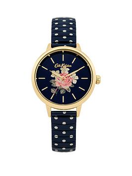 cath-kidston-cath-kidston-richmond-rose-navy-floral-printed-dial-navy-white-polka-dot-stainless-steel-expander-l