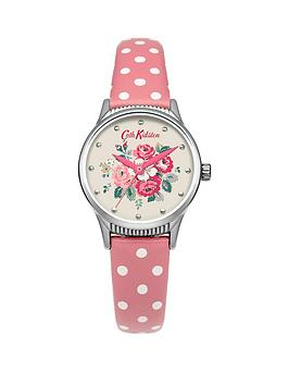 cath-kidston-cath-kidston-forest-bunch-white-floral-printed-dial-pink-polka-dot-pu-strap-ladies-watch