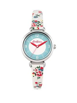 cath-kidston-cath-kidston-kew-sprig-stone-cream-dial-cream-floral-printed-fabric-strap-ladies-watch