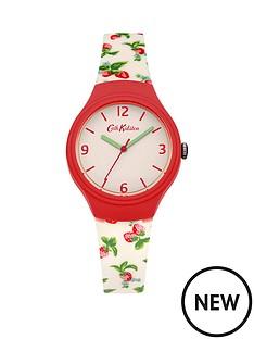 cath-kidston-cath-kidston-strawberries-white-dial-white-strawberry-printed-silicone-strap-ladies-watch