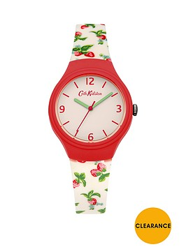 cath-kidston-cath-kidston-strawberries-white-dial-white-strawberry-printed-silicone-strap-ladies-watch