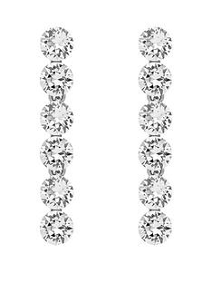 lola-and-grace-lola-amp-grace-silver-tone-plate-crystal-drop-earrings-made-with-swarovski-elements
