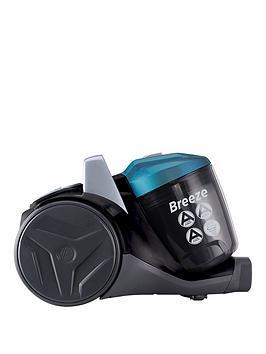 Hoover Breeze Br71Br01 Bagless Cylinder Vacuum Cleaner  GreenGreyBlack