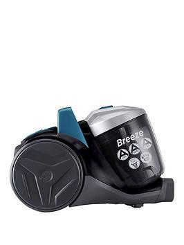 Hoover Breeze Pets Br71Br02 Bagless Cylinder Vacuum Cleaner  GreenGreyBlack