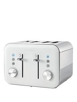 Breville Vtt687 High Gloss White 4Slice Toaster