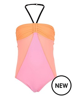 river-island-girls-orange-colour-block-swimsuit