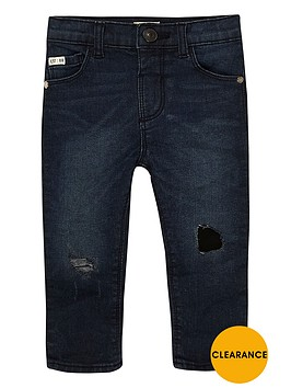 river-island-mini-boys-dark-wash-ripped-skinny-jeans