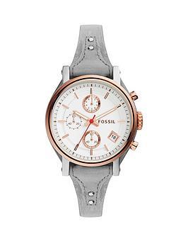 fossil-fossil-original-boyfriend-white-dial-rose-tone-case-grey-leather-strap-ladies-watch