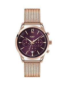 henry-london-henry-london-hampstead-purple-chronograph-dial-rose-tone-mesh-bracelet-ladies-watch