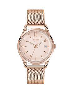 henry-london-henry-london-light-pink-dial-rose-tone-mesh-bracelet-ladies-watch